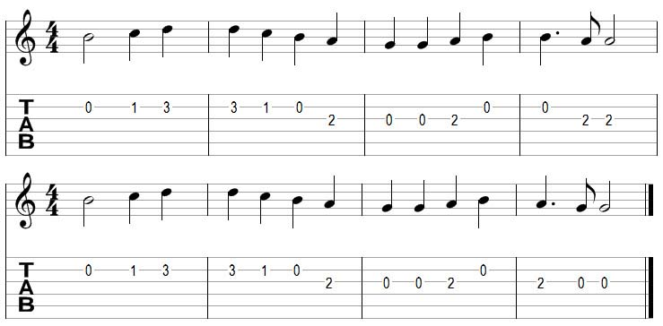 More simple songs for beginners to practice on guitar : Aaron Matthiesu0026#39; Guitar Blog
