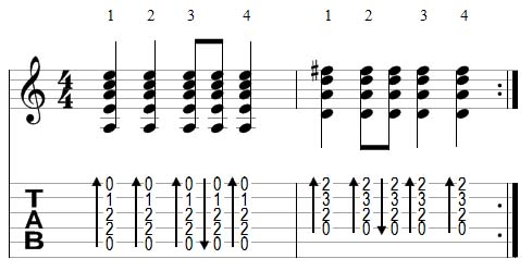 strumming example 4