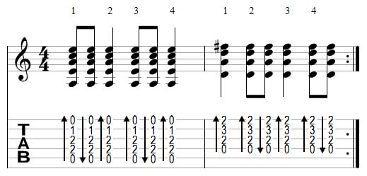 strumming example 5