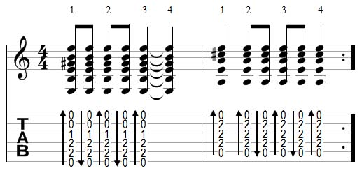 strumming example 6
