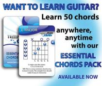 Learn 50 essential guitar chords